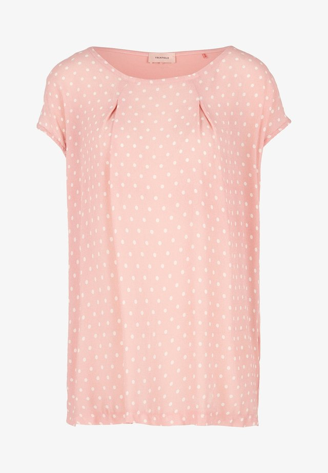 Blouse - light pink dots