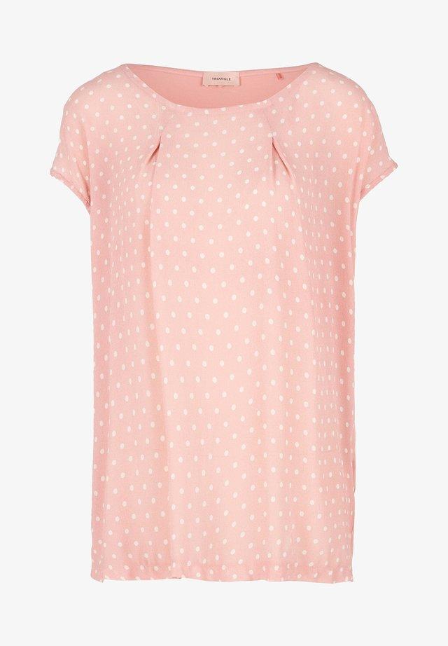 Blouse - light pink dots