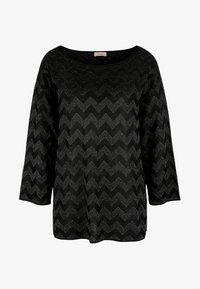 Triangle - MIT METALLIC-MUSTER - Trui - black aop - 4