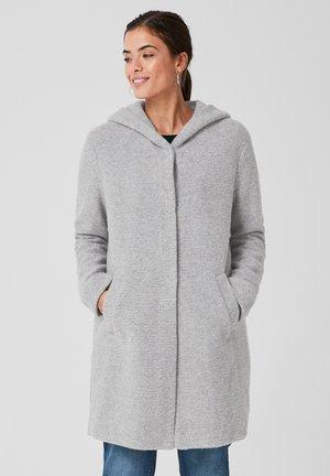 MIT KAPUZE - Halflange jas - light grey melange