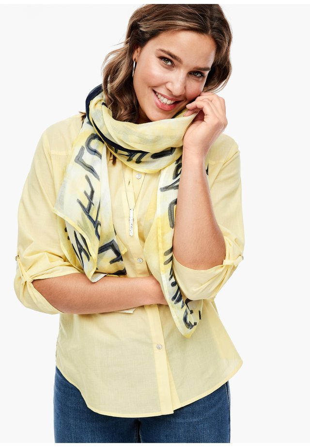 ZARTER SCHAL MIT LABEL-PRINT - Schal - yellow placed print