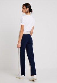 Stefanel - PANTALONE COLOR BLOCK - Spodnie materiałowe - base grey - 2