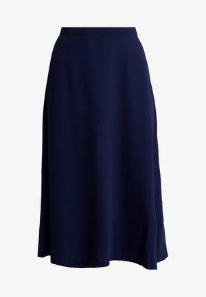 GONNA CON BOTTONI - A-line skirt - blue