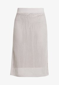 Stefanel - GONNA IN MAGLIA PUNTO RETE - A-line skirt - grey - 4