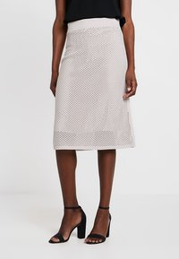 Stefanel - GONNA IN MAGLIA PUNTO RETE - A-line skirt - grey - 0