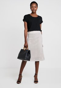 Stefanel - GONNA IN MAGLIA PUNTO RETE - A-line skirt - grey - 1