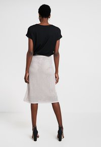 Stefanel - GONNA IN MAGLIA PUNTO RETE - A-line skirt - grey
