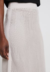 Stefanel - GONNA IN MAGLIA PUNTO RETE - A-line skirt - grey - 3