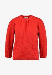 Stefanel - MAGLIA FANTASIA - Sweter - red - 4