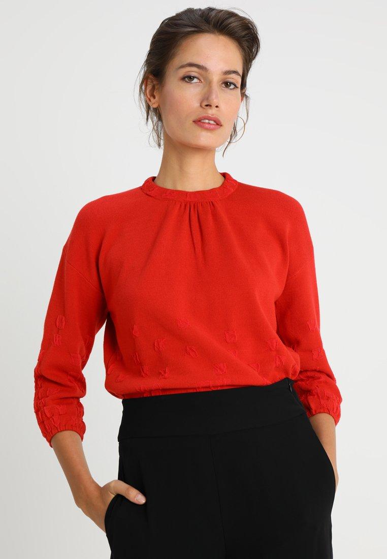 Stefanel - MAGLIA FANTASIA - Sweter - red