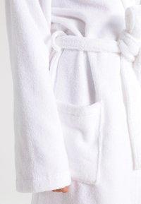 Schiesser - ESSENTIAL - Dressing gown - weiß - 4