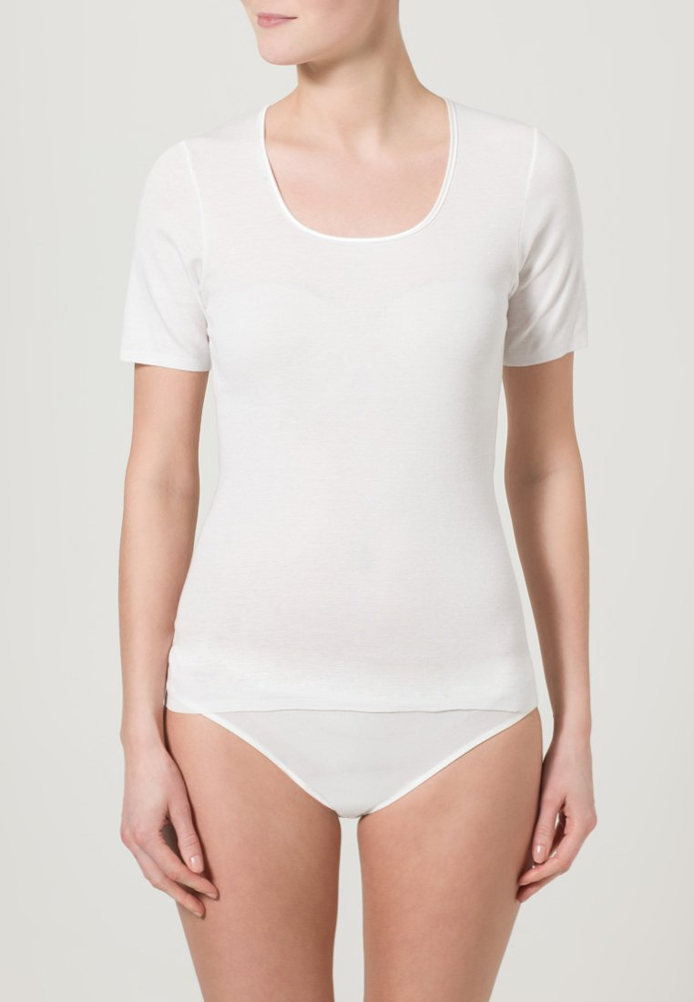 Schiesser - LUXURY - Pyjamashirt - white