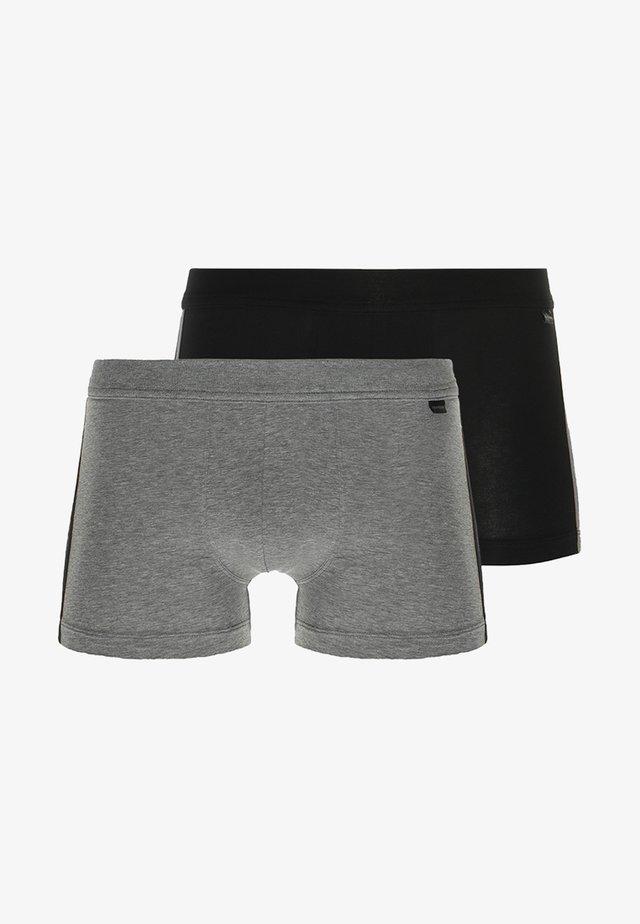 2 PACK - Panties - mottled grey/black