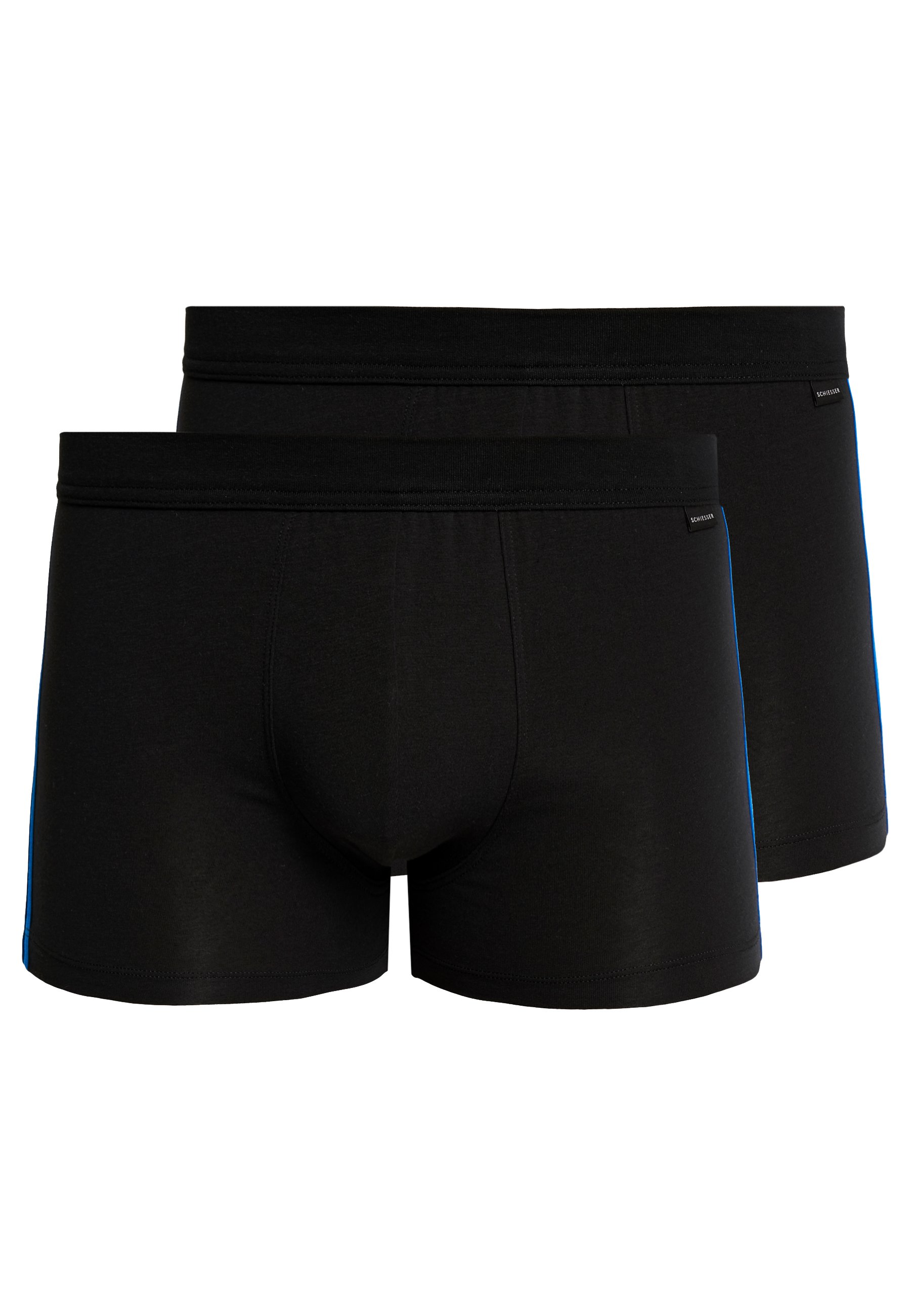 Schiesser Essentials 2 PackShorty blue Black dxhtsQCr