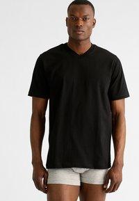 Schiesser - AMARICAN 2 PACK - Camiseta de pijama - black - 1