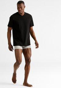 Schiesser - AMARICAN 2 PACK - Camiseta de pijama - black - 0