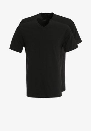 AMARICAN 2 PACK - Pyjamashirt - black