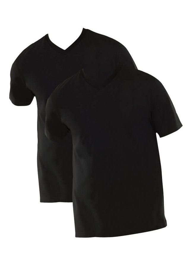 2-PACK - Basic T-shirt - schwarz