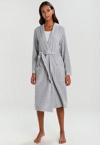 Schiesser - Dressing gown - grau melange - 0