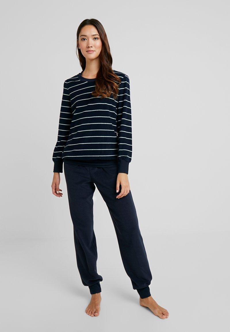 Schiesser - LANG SET - Pyjama set - nachtblau