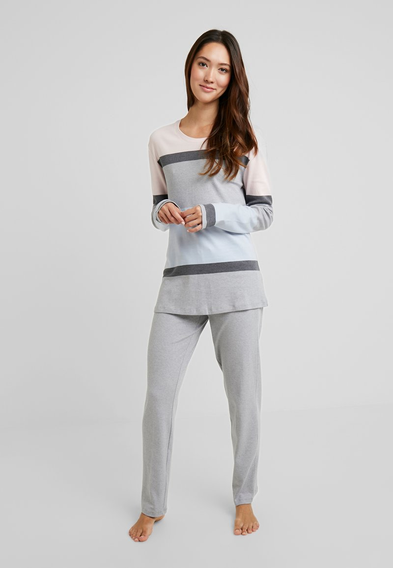 Schiesser - ANZUG LANG - Pyjama - silbergrau