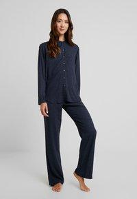 Schiesser - LANG - Pyjama - nachtblau - 1