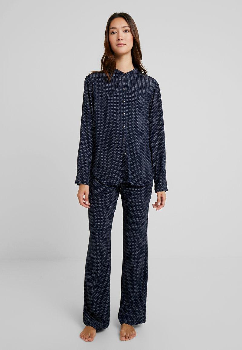 Schiesser - LANG - Pyjama - nachtblau