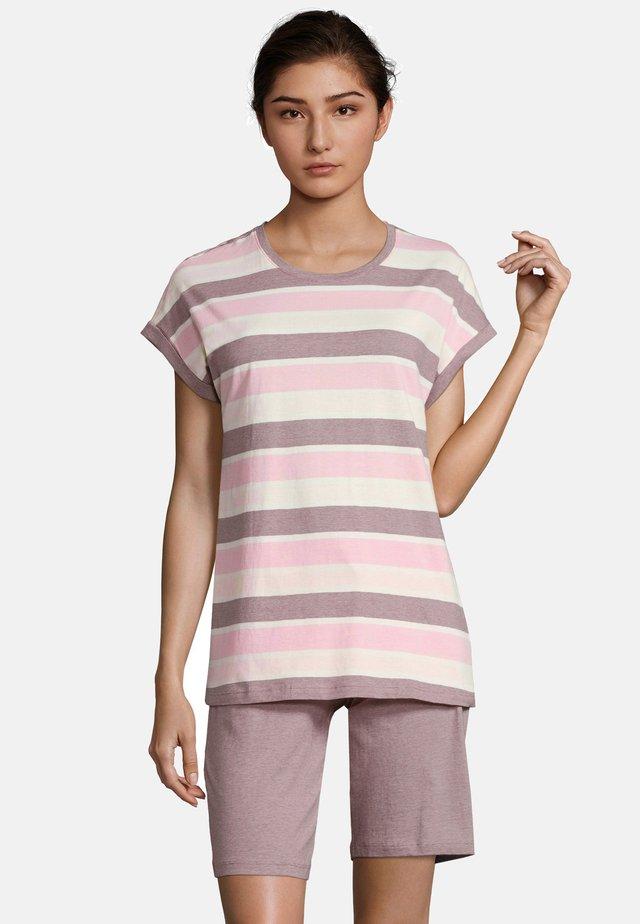 Pyjama - light pink/beige/red