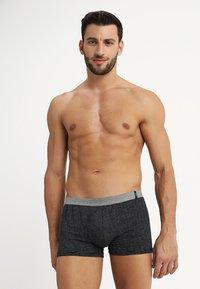 Schiesser - 2 PACK - Pants - mottled grey/black - 0