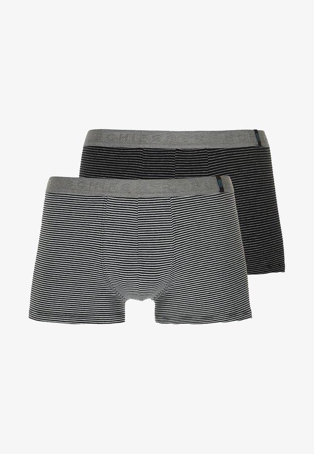2 PACK - Onderbroeken - mottled grey/black