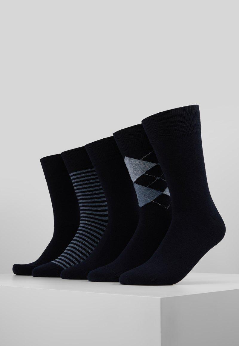 Schiesser - FIT 5ER PACK - Strømper - black