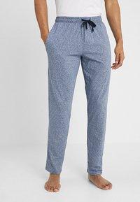 Schiesser - BASIC - Pyjama bottoms - dark blue melange - 0