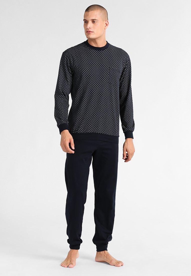 Schiesser - LANG SET - Pijama - dunkelblau