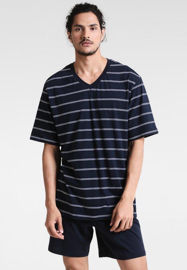 ANZUG KURZ SET - Pyjama - dunkelblau