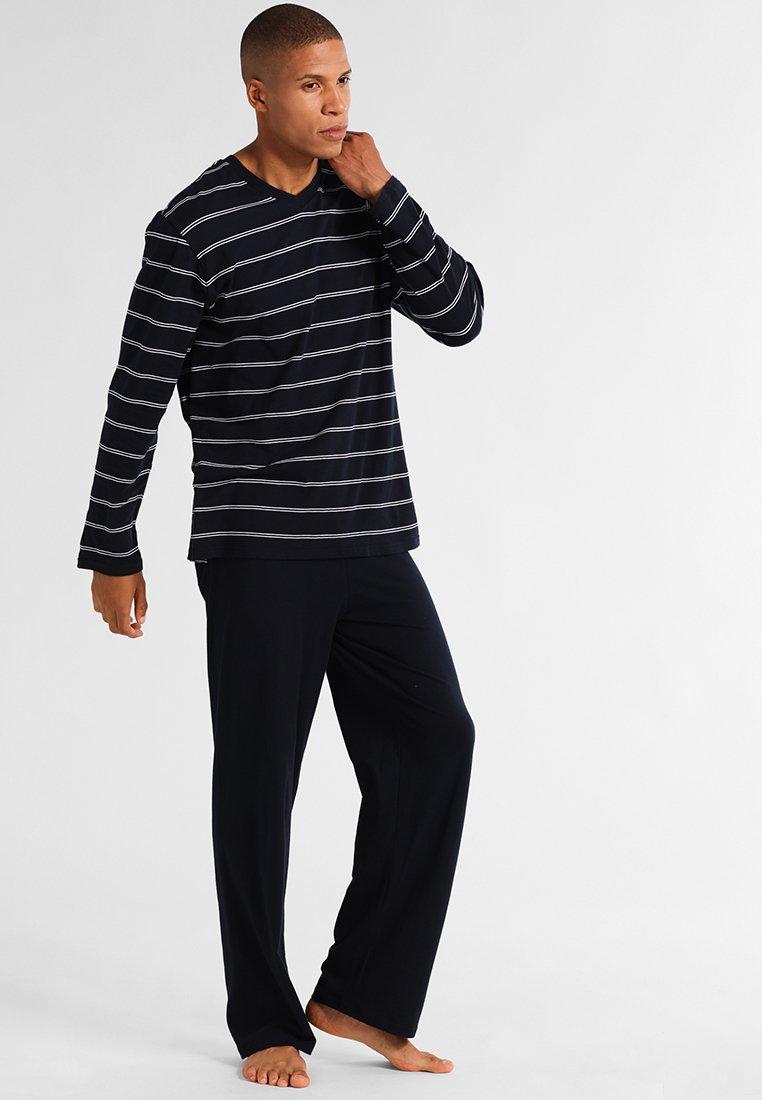 Schiesser - LANG SET - Nattøj sæt - dunkelblau