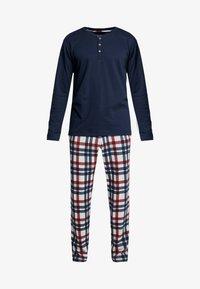Schiesser - LANG - Pijama - dunkelblau - 4