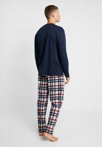 Schiesser - LANG - Pijama - dunkelblau - 2