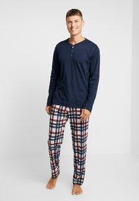 Schiesser - LANG - Pijama - dunkelblau - 0