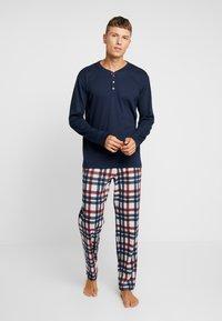 Schiesser - LANG - Pijama - dunkelblau - 1