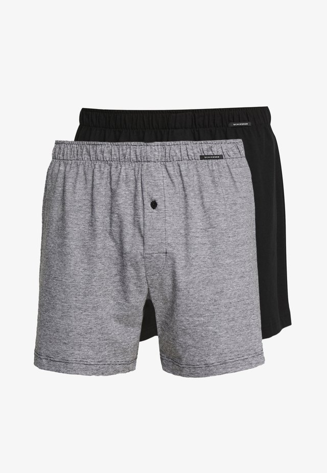 2 PACK - Boxershorts - black/grey