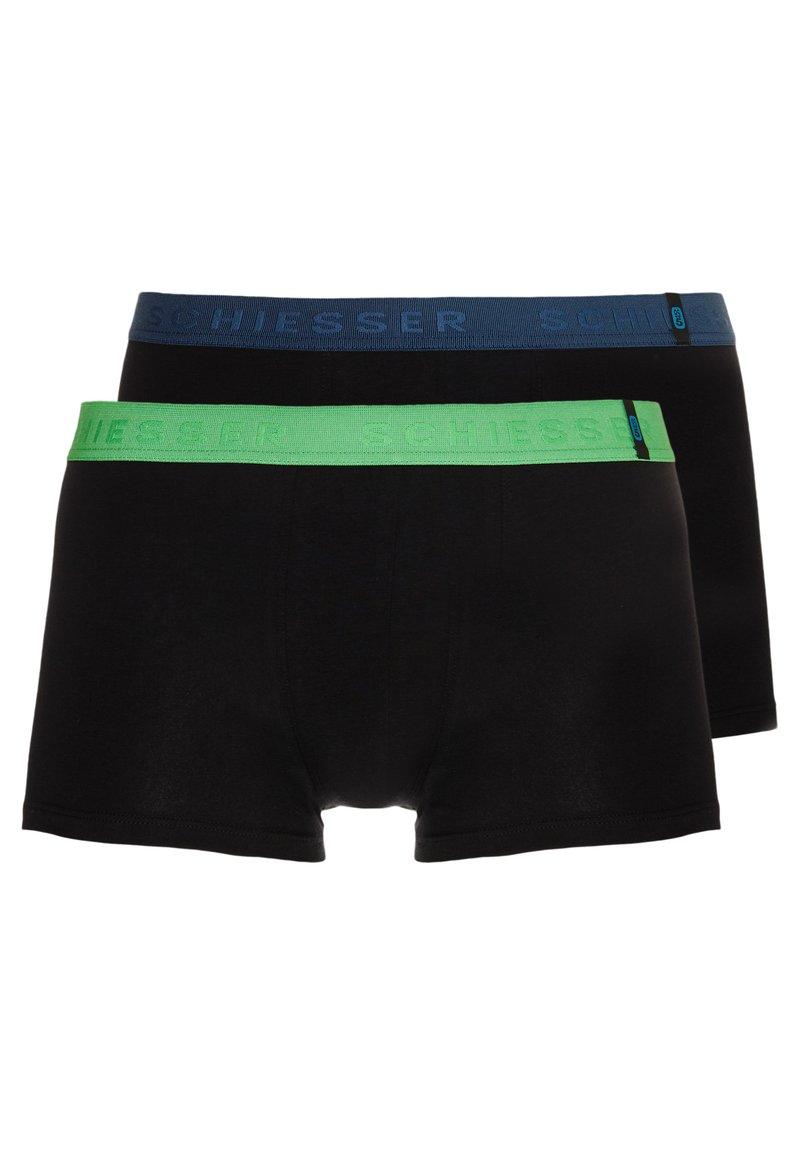 Schiesser - SHORTS 2 PACK - Panties - black/green/blue