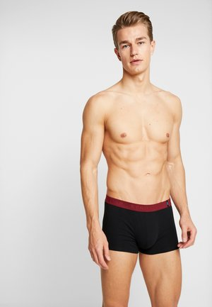 SHORTS 2 PACK - Pants - black/dark red/red