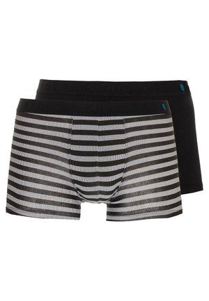 2 PACK - Pants - black/grey