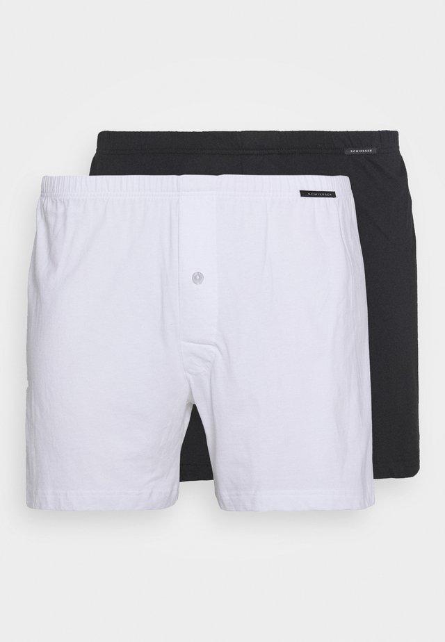 2 PACK  - Boxer - black/white