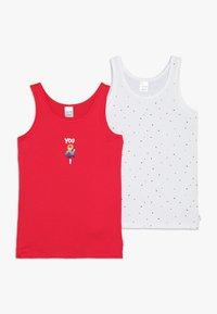Schiesser - KIDS 2 PACK - Tílko - white/red - 0