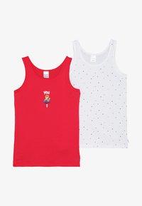 Schiesser - KIDS 2 PACK - Tílko - white/red - 3