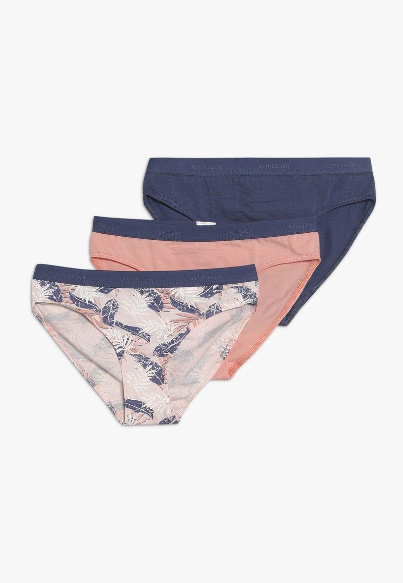 Schiesser - 3 PACK - Kalhotky/slipy - light pink/dark blue/white
