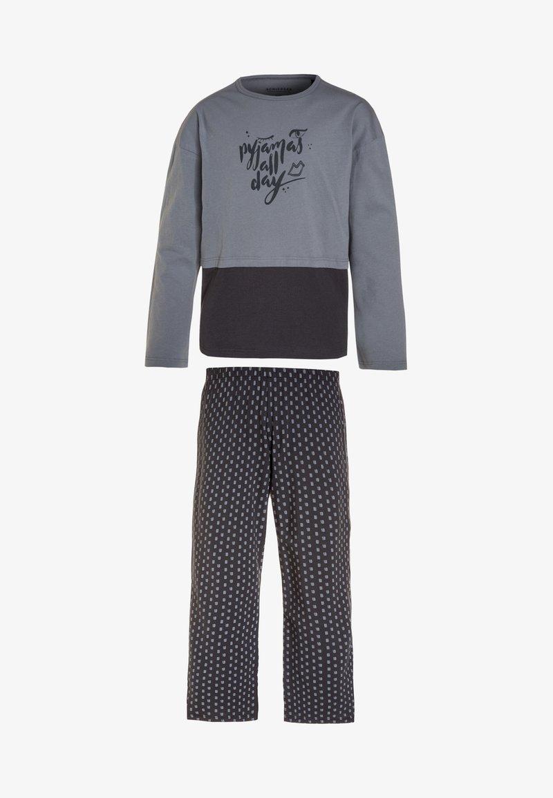 Schiesser - MÄDCHEN ANZUG LANG KIDS - Pyjama - graublau