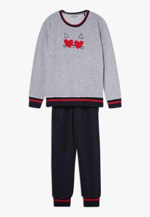TEENS MÄDCHEN ANZUG LANG - Pyjama set - grau meliert