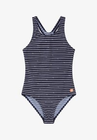 Schiesser - TEENS - Bañador - dark blue/white - 2
